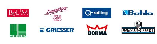 Bel'M, Dynastore, Q-railing, Bohle, Volets du sud, Griesser, Dorma, La Toulousaine